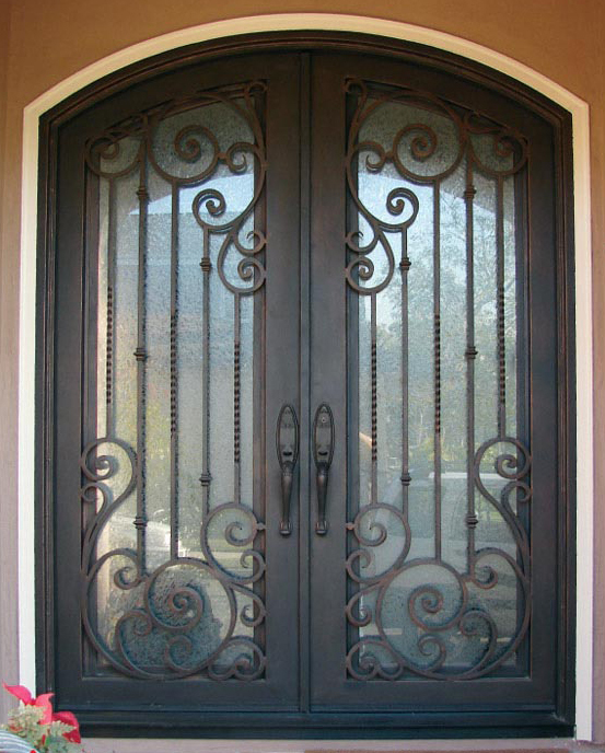 Hot sale for rot 0220 wrought iron door prices only 5299 - Decorative doors for sale ...