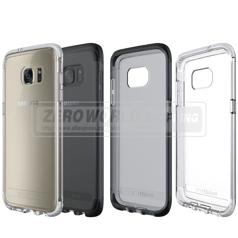 Tech21 Evo Frame Case for Samsung Galaxy S7 edge Cell Phones Tech 21 Scrub TPU Back Cover Drop Protector Shell in Retail Package(China (Mainland))