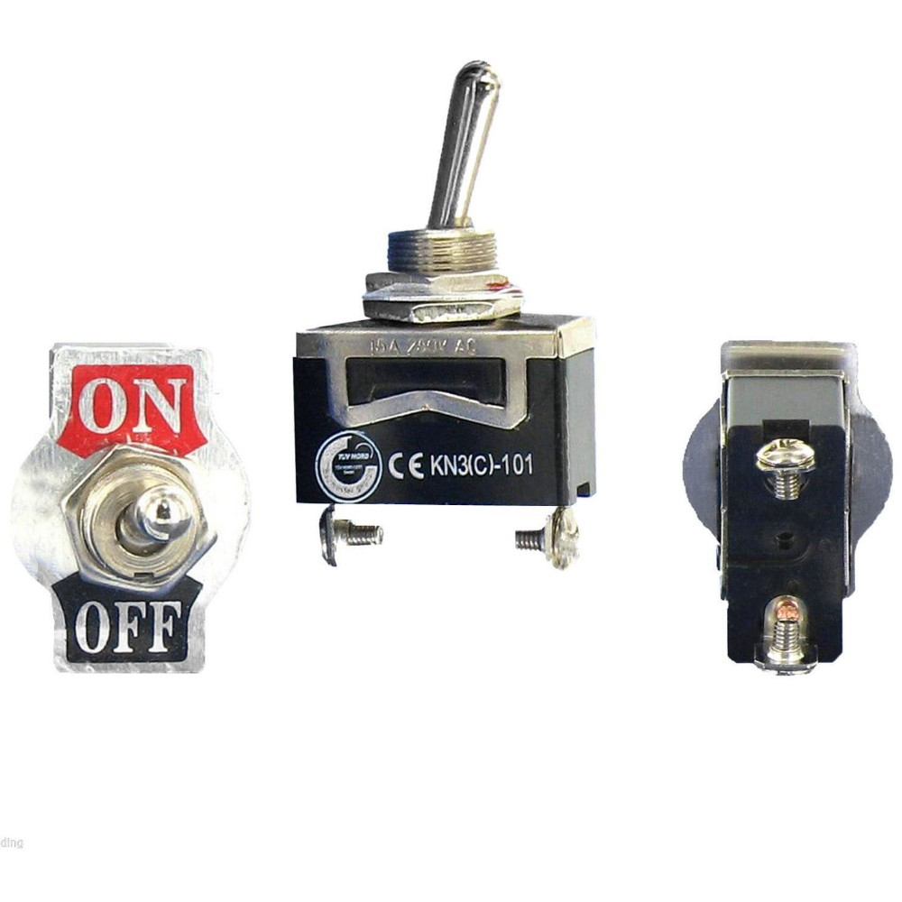 1 Pc New Spst Waterproof Switch Cap On Off Miniature Toggle Switches Rotary Ac 3 Positions 240v 65a Description 100 Brand And High Quality Position2on Single Pole Throw A Simple This Type Can Be Used To The