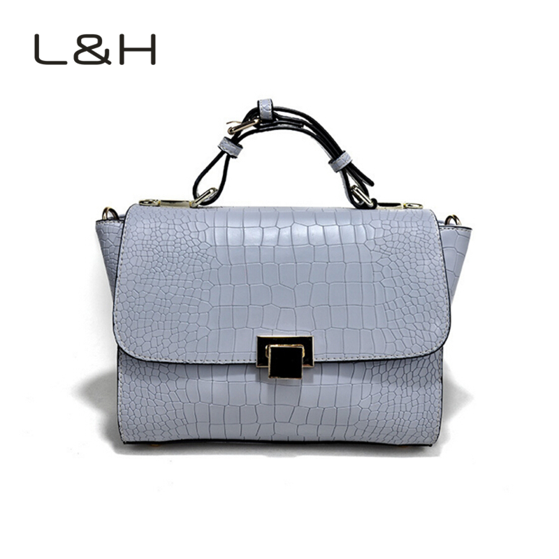LH Newest Fashion Women Handbag Brief Crocodile Pattern Shoulder Bags Women Messenger Bags Leather Handbags Women Crossbody Bags