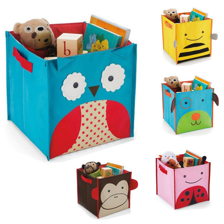 Lovely toys Storage boxes for kids clothing storage box cute animals sundries storage boxes clothers organizer four styles(China (Mainland))