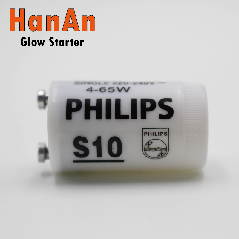 Fluorescent Lamp Starters Tube Light Starter S10 Fluorescent Tube Compatible with Inductive Ballast Remove Starter(China (Mainland))