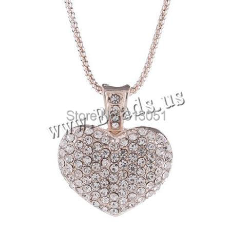 Free shipping!!!Zinc Alloy Sweater Chain Necklace,One Direction, Heart, gold color plated, lantern chain &amp; with rhinestone<br><br>Aliexpress