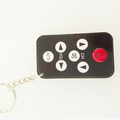 Free Shipping Universal Infrared IR Mini TV Set Remote Control Keychain Key Ring 7 Keys BlackFree