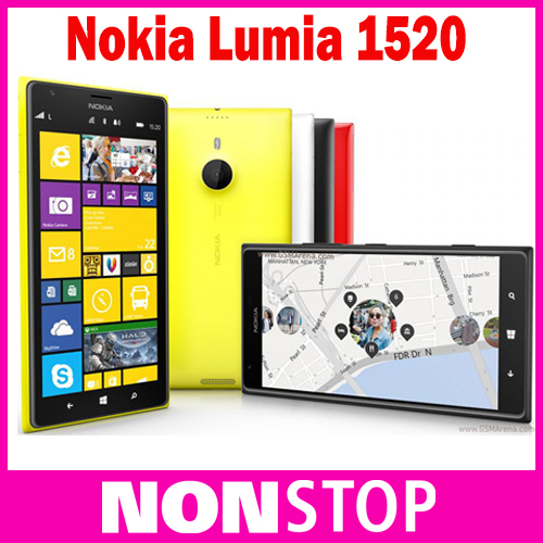 Original Unlocked Lumia 1520 Nokia Windows 8 Quad Core 2GB RAM +32GB ROM 3G 4G 6 inch Nokia Lumia 1520 mobile phone(China (Mainland))