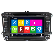 7 inch 2 Din Car DVD Volkswagen VW Golf 4 5 6 Touran Passat B6 Sharan Jetta Caddy Transporter T5 Polo Tiguan GPS Card - Shenzhen LJD Electronics Co., Ltd. store