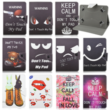 "Buy Black print pattern Leather Case Cover Stand Lenovo IdeaTab A10-70 A7600 Universal Android Tablet 10"" inch S4A92D for $10.98 in AliExpress store"