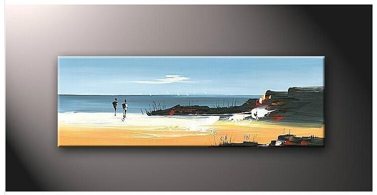 Grote rechthoek met de hand gemaakte landschap olieverfschilderij zeegezicht landschap kunst aan - Eigentijds rechthoek huis ...