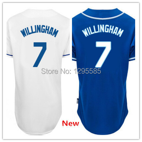 Top Sale #7 Josh Willingham Jersey,Shop Men Baseball Jersey online,White and Blue Color,All Letters & Stitching Sewn On!(China (Mainland))