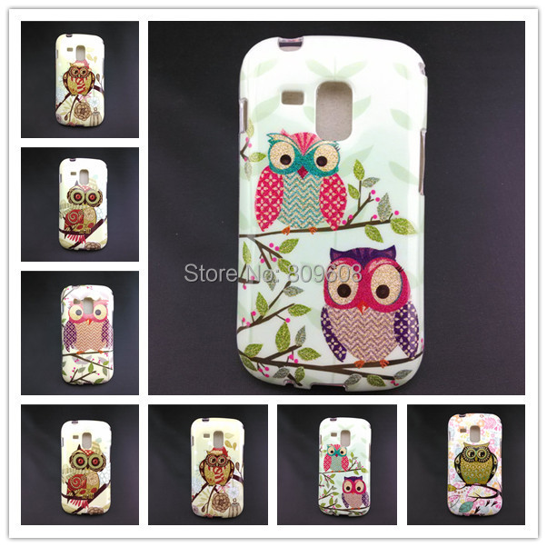 NEW! Nice Owl Pattern Soft TPU Cell Phone Case Cover Holster For Samsung Galaxy Trend Duos S7562 Protective Shell Skin C928-A(China (Mainland))