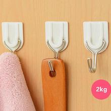 6Pcs/lot White Sticky Self-Adhesive Hook For Kitchen Bathroom Tower Holder Hanger(China (Mainland))
