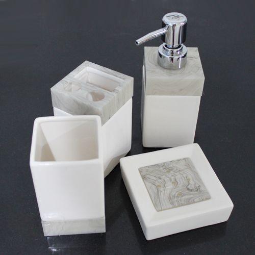 Ceramic Bathroom Set Accessories Bath Kit 4PCS/Set Simple White Color Toothpaste Holder Dispenser(China (Mainland))