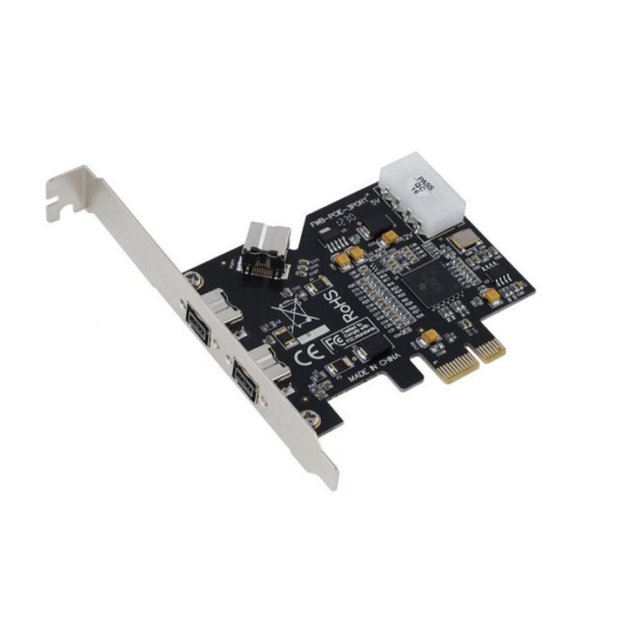 Del PCI-Express IEEE 1394b FireWire 800 2+1 ports Controller Card TI XIO2213 Mar10<br><br>Aliexpress