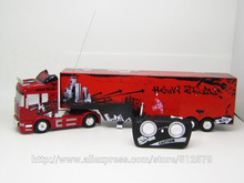 Big Remote Control Big Size 1:32 RC 6CH container heavy truck with lights and sounds  Car(China (Mainland))