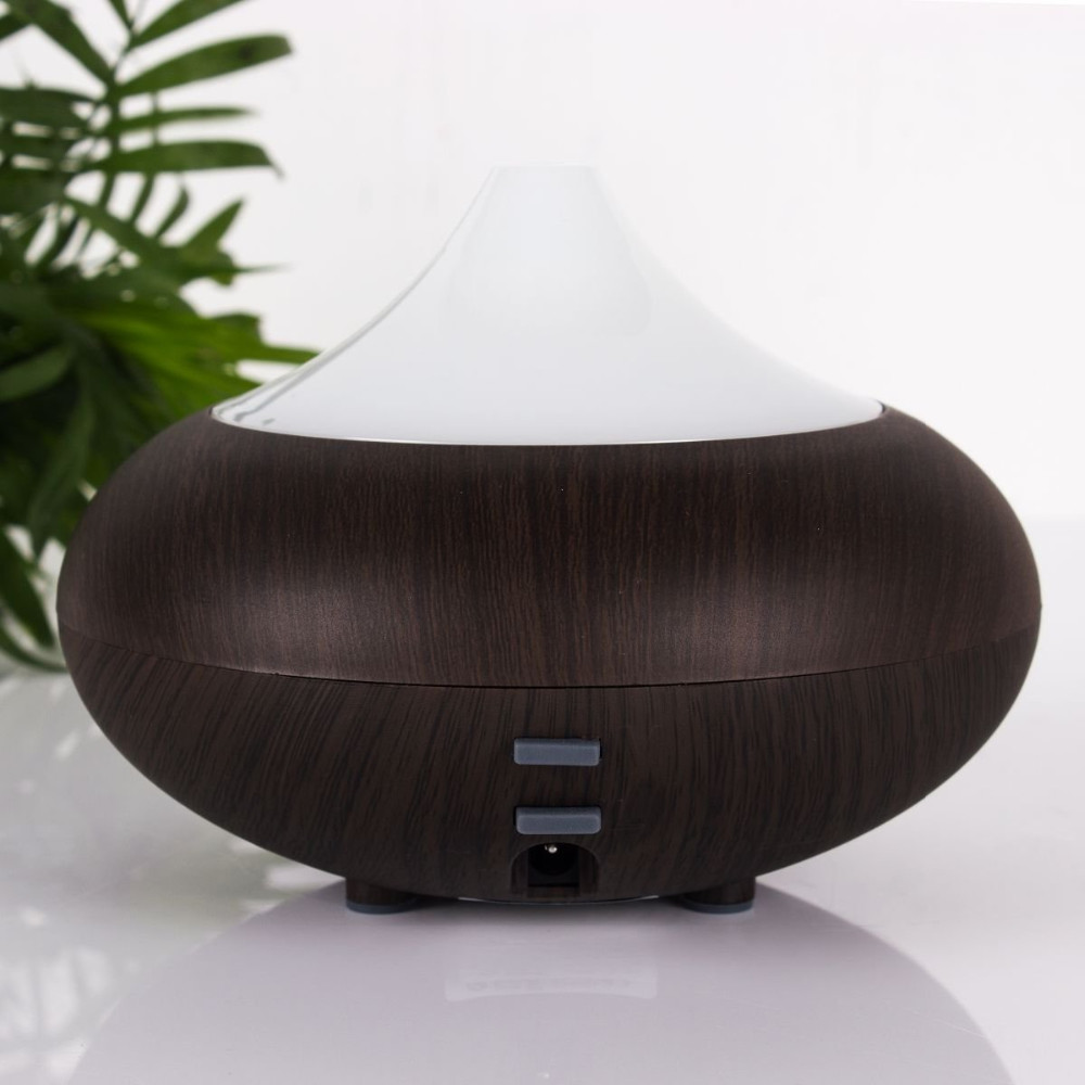 Aroma Aromatherapy Humidifier LED Wood Grain Essential Oil Diffuser Ultrasonic Air Purifier Mist Maker(China (Mainland))