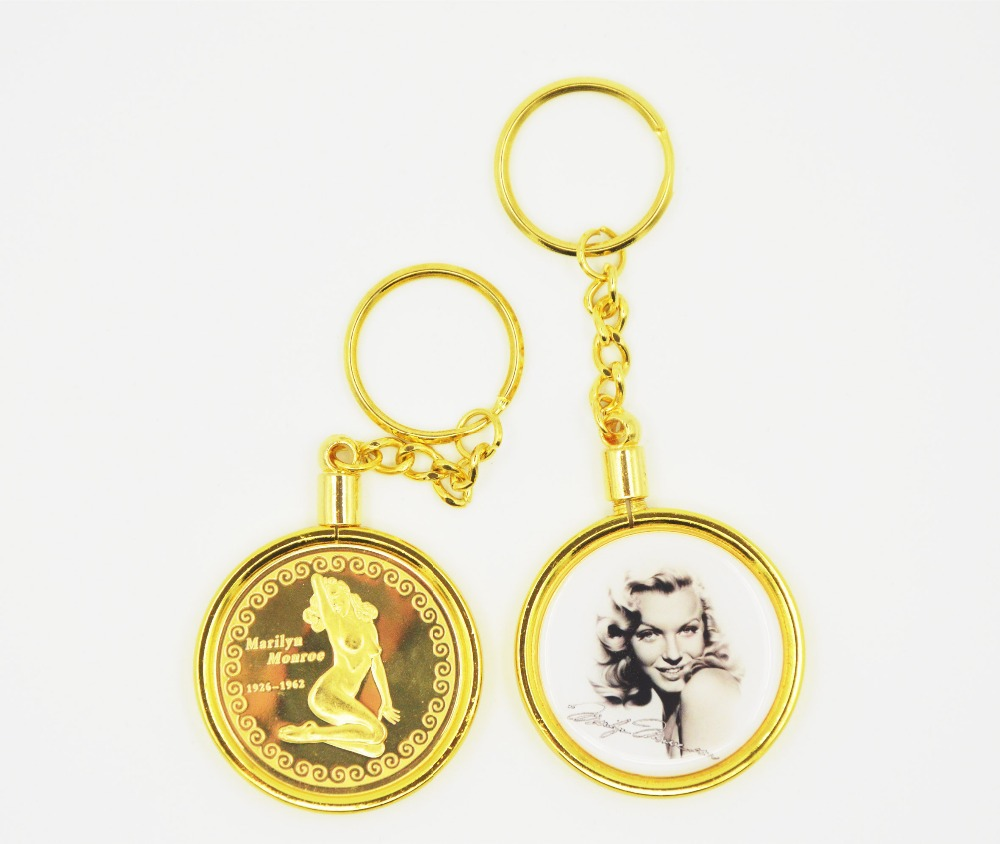 High Quality Anniversary Gold Plated Marilyn Monroe Coin in Metal Craft(China (Mainland))