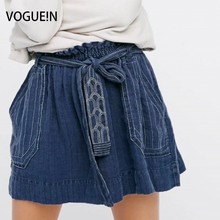 Buy VOGUE!N New Womens Ladies Sexy Floral Embroidered Elastic Waist Pockets Mini Skirt Size SML Wholesale for $15.46 in AliExpress store