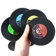 Retro CD-Design Antislip Silicone Drink Coasters Pad Cup Coffee Mat Placemat Christmas  Gift  6LO2(China (Mainland))