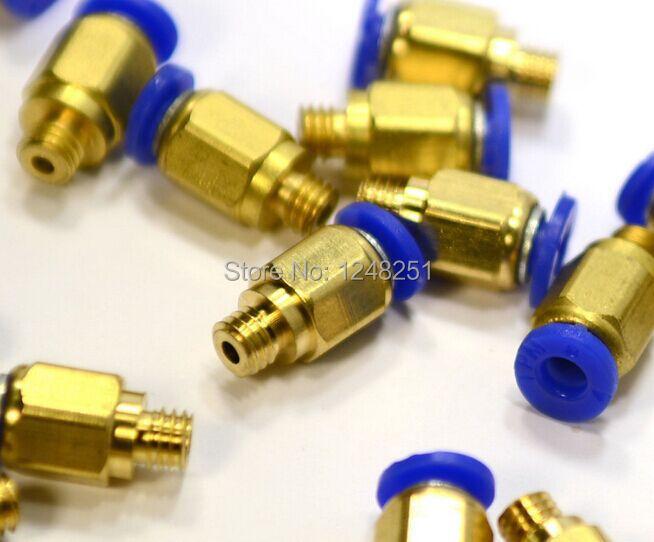 Гаджет  PC4-M6 Pneumatic Straight Fitting Connector  for 4mm OD tubing M6 6mm Reprap 3D Printer Printers None Офисные и Школьные принадлежности