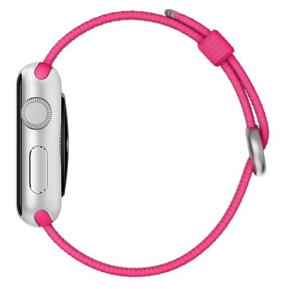 Оригинальный Нейлон для Apple Watch Band Perlon Ремешок 38 мм 42 мм iWatch Наручные Браслет Ткани, Тканые Ремешок с Адаптеры 7 цвета