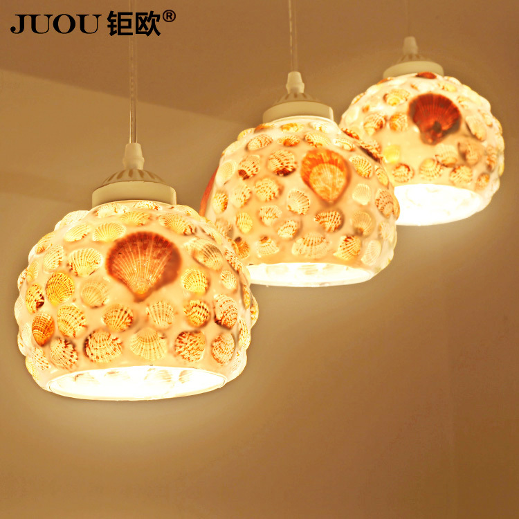 Shell chandelier lighting three European restaurant artistic rustic restaurant with minimalist dining room chandelier lamp(China (Mainland))