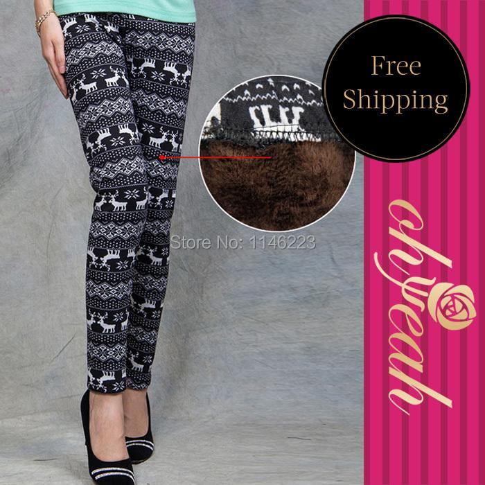 T2179 Low price good quality womens leggings 2015 hot sale free shipping fashion winter leggings snowflake warm leggings(China (Mainland))