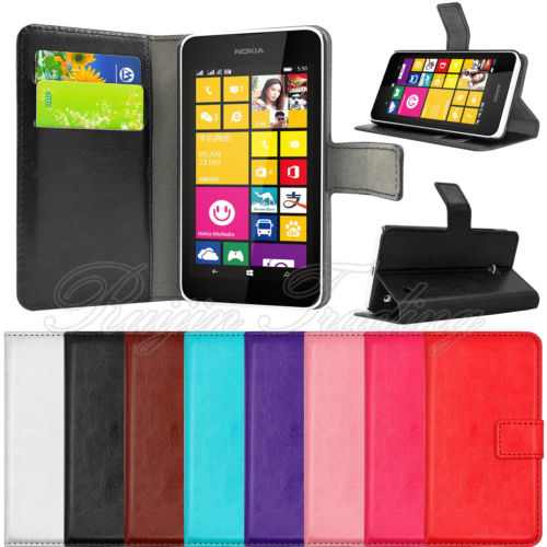 Mobile Phone Case For Nokia Lumia 630 635 Flip Book PU Leather Stand Wallet Phone Cases Cover Card Pouch New Brand(China (Mainland))