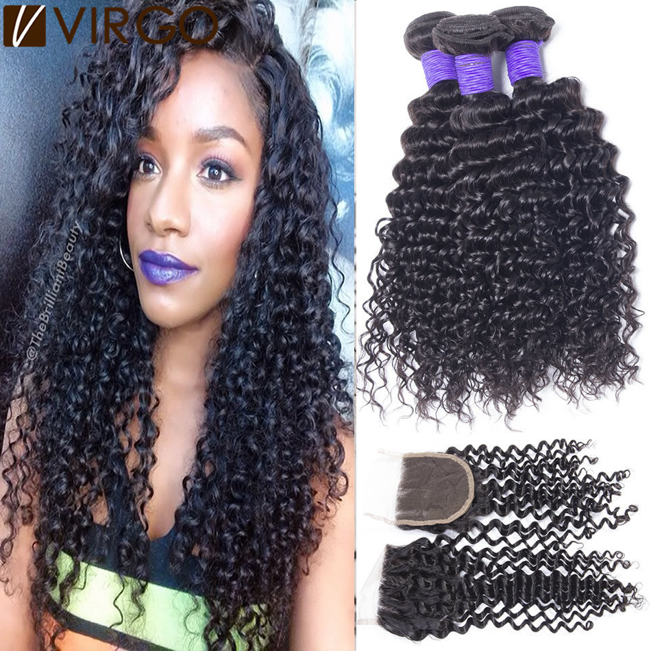Virgin Brazilian Weave Closure Remy Indian Hair