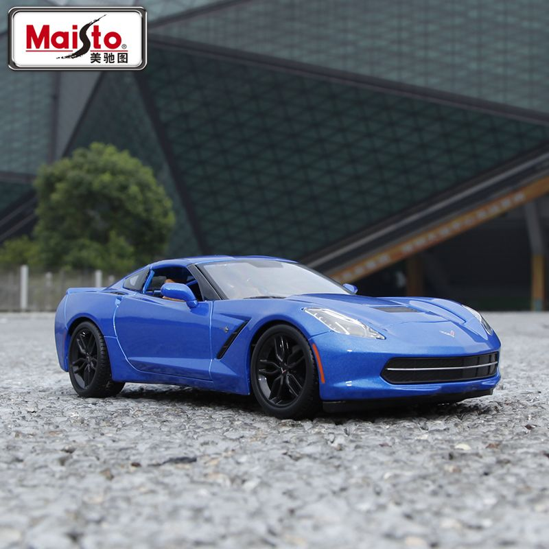 Maisto 1:18 Diecast Car Corvette C7 Z5 Alloy Car Model Toy Vehicle Models Kids Car Toys Collection gift(China (Mainland))