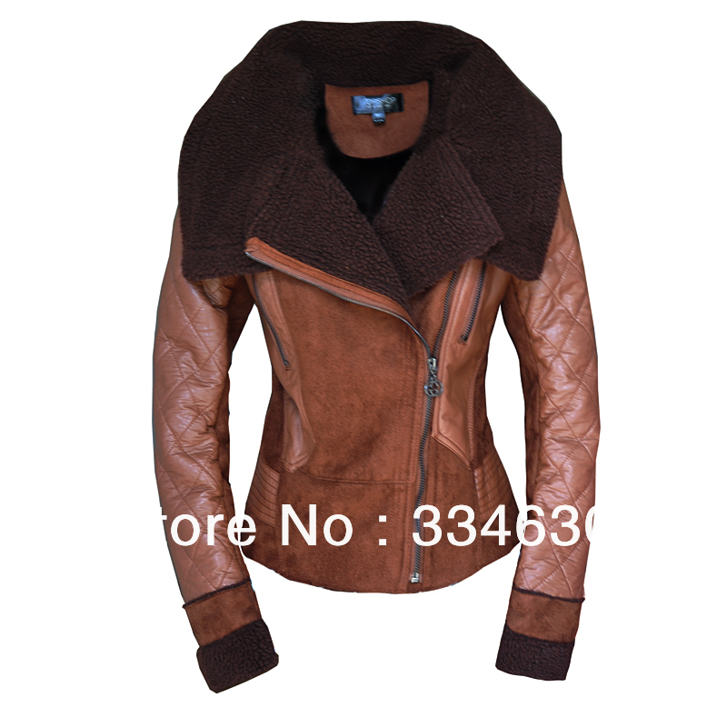 2015 Best NEW Women's Winter Fashion ONE FUR Coat Turn-Down Collar Female Sheepskin - A Roy's store