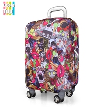 Travel Luggage Protective Fit Case Perfectly Apply to 18~30 Inch Cases Suitcase Cover Stretchable Protector Free Shipping(China (Mainland))