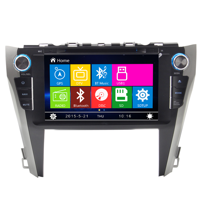 Car indash Radio GPS Navigation DVD Stereo Headunit For TOYOYA CAMRY 2015 car stereo with steering wheel control(China (Mainland))