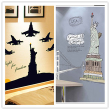 Buy Statue Liberty Fluorescent Luminous Wall sticker wall Decal Home Decor Wedding Home Decoration Livingroom bedroom poster for $7.80 in AliExpress store