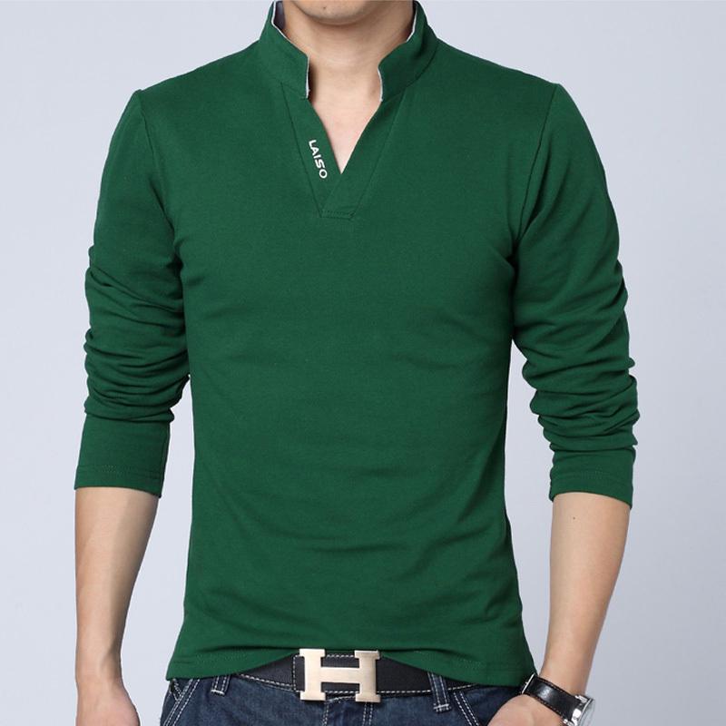 men clothes solid color long sleeve camisetas slim fit t shirt. Black Bedroom Furniture Sets. Home Design Ideas