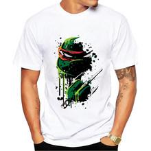 Buy Mens t Shirts Fashion 2017 Summer Men's Wear Ninja turtles Printed Anime t shirt Homme Brand men Funny t Shirts custom Shirt for $7.93 in AliExpress store
