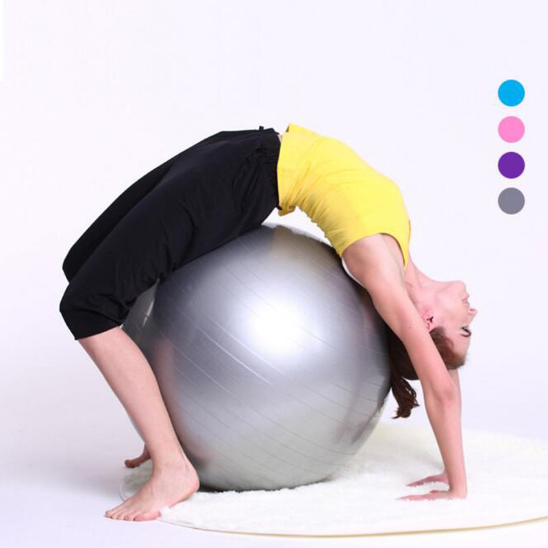 65cm Bosu ball Gym Exercise Yoga BallFitness Ball Office Slimming Thin Body Weight Loss Sport Pilates Ball(China (Mainland))