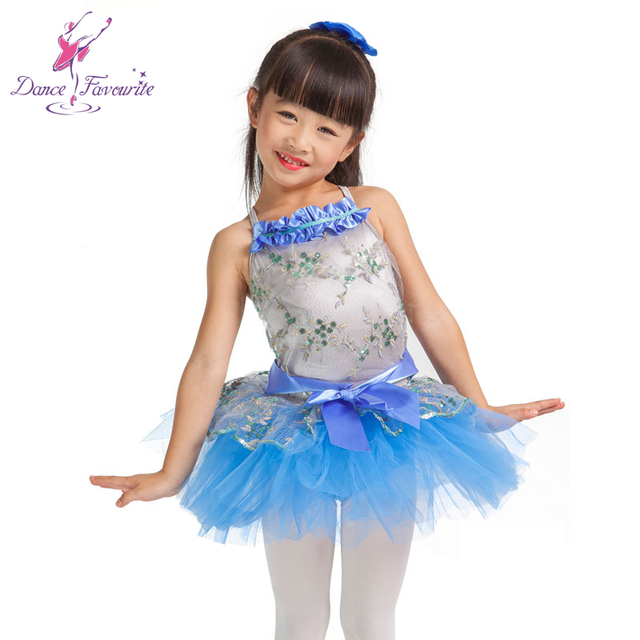 Ballet dress for Children tutu Blue ballet dresses ...