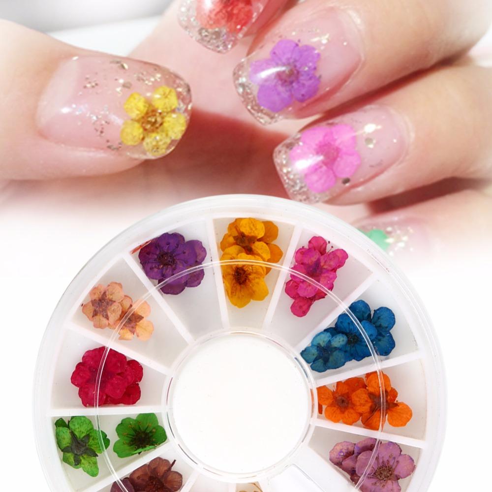 Украшение ногтей цветами