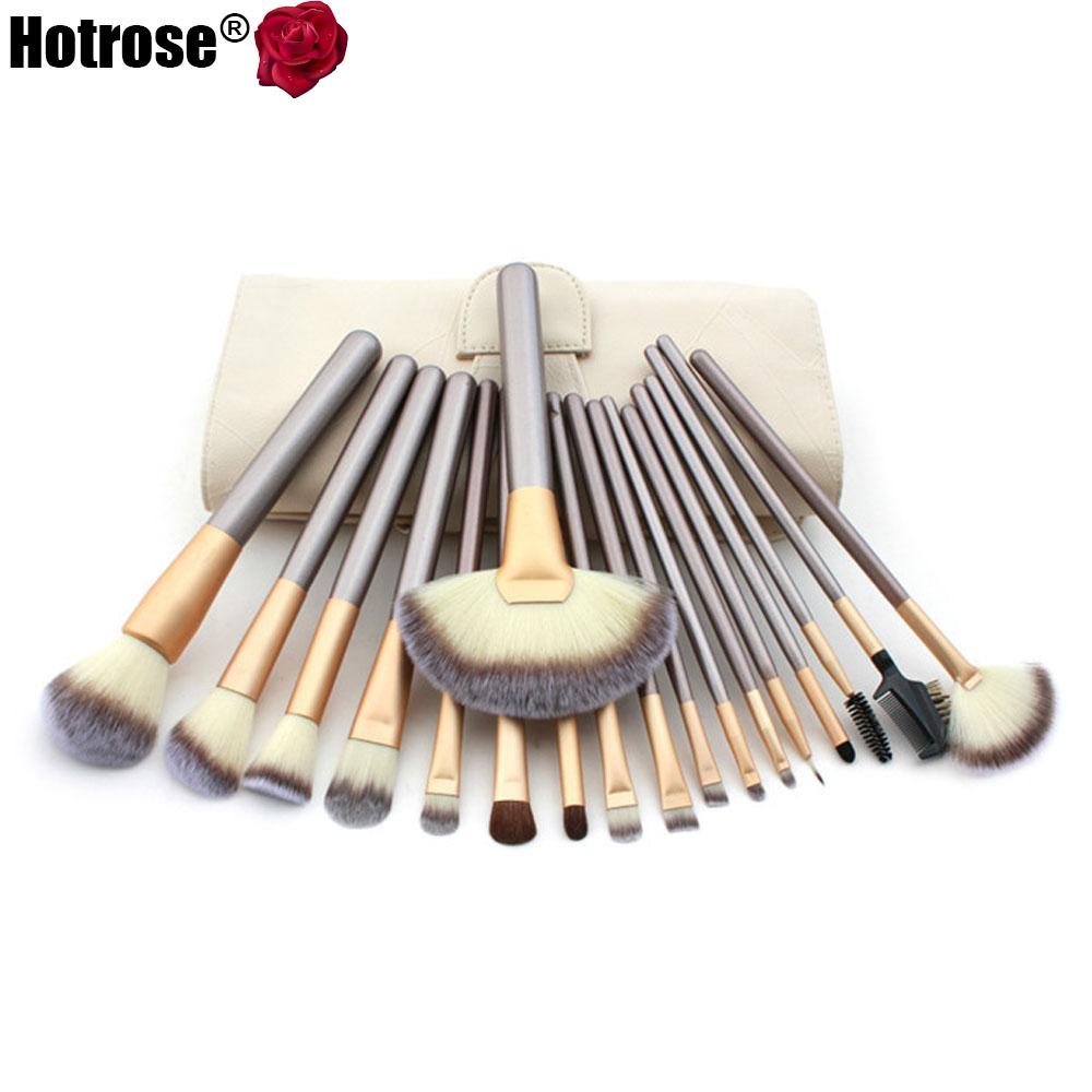 12/18 pcs Makeup Brush Set Synthetic Brushing Brush Professional Cosmetics Makeup Foundation Powder Blush Eyeliner Brushes(China (Mainland))