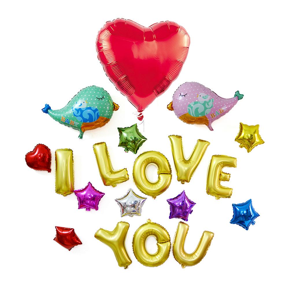 Air Balloons Set With Inflator Pump Heart Star Aluminum Coating Proposal Expressing Love Wedding Decoration Inflatable Ballon(China (Mainland))