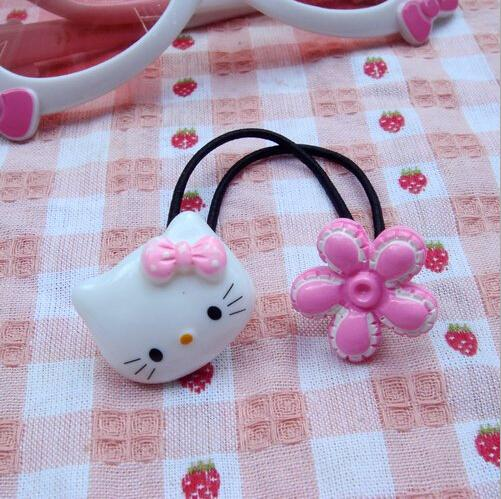 1 Piece Baby girl's styling tool hello kitty elastic hiar bands headwear hair accessories for women kids make they cute lovely(China (Mainland))