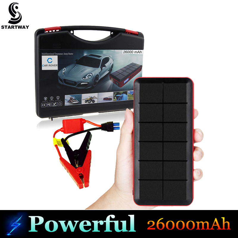 New Arrive 26000mAh Car Jump Starter Mini Portable Emergency Battery Charger for Petrol Diesel Car 12V Multi-function Power Bank(China (Mainland))