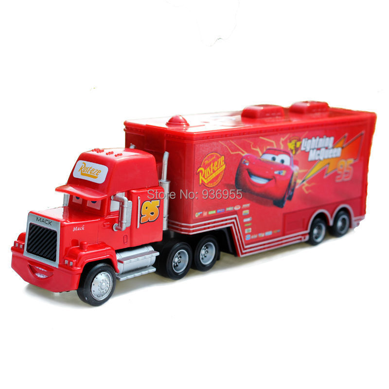 Free Shipping Brand New pixar cars 2 Diecast metal Toys Mack red Truck Hauler # 95 Toy Vehicle Gift(China (Mainland))