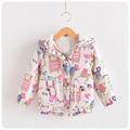 2016 New Children Winter Jackets for Girls Cartoon Hoodies Trench Coat for Girl Baby Brand Autumn