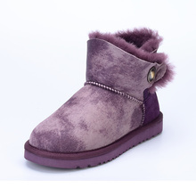 Buy MIYAGINA Women Shoes 100% Genuine Sheepskin Leather Women Boots Natural Fur Winter Boots Warm Wool Snow Boots Winter Ankle Shoes for $50.00 in AliExpress store
