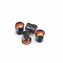free shipping black ColorMini metal wheel tire valve stem caps for Germany flag(China (Mainland))