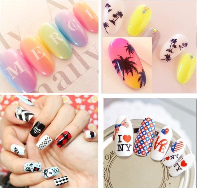 1 Sheet 2015 Beauty Letter Etc Water Transfer Sticker Nail Art Decals Nails Wraps Temporary Tattoos Watermark Nail Tools(China (Mainland))