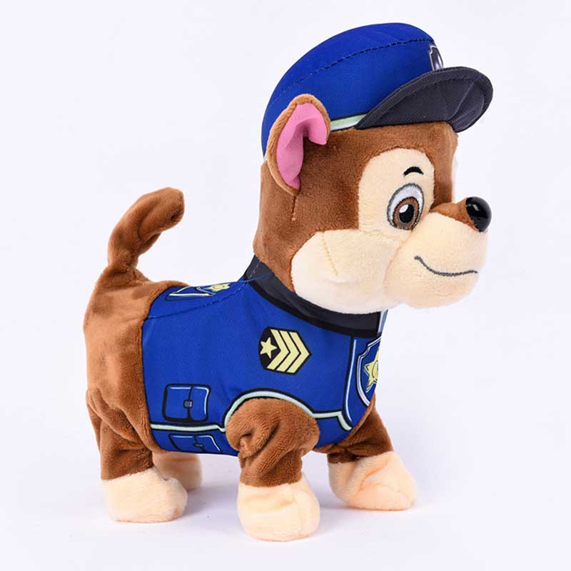 30Cm Cute Firefighting Assistance Patrol Puppy Dogs Dance Walk Plush Toys Stuffed Dolls Children Birthday Gifts TF0155(China (Mainland))