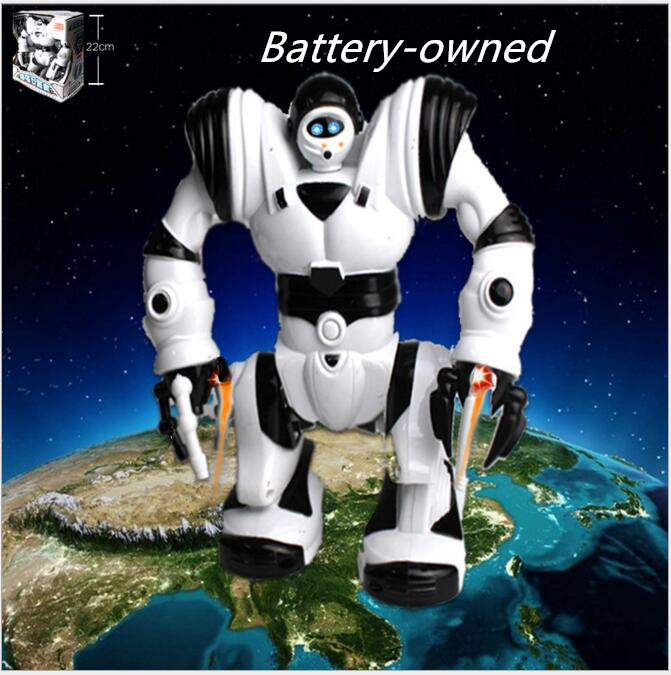 Children Of new deform Robben hey Laid electric robot guardian of the earth luminescence band concert walk on his own child gift(China (Mainland))