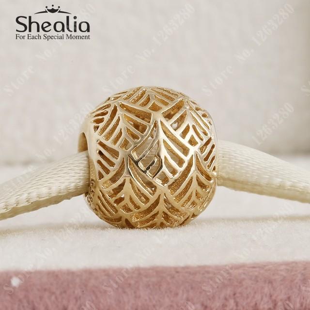 2015 летняя коллекция 14 К чистого золота ажурные tropicana подвески shealia ювелирные известный бренд diy браслеты RK034